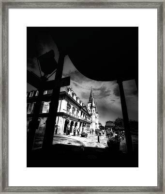 Round Corner Framed Print by Robert McCubbin