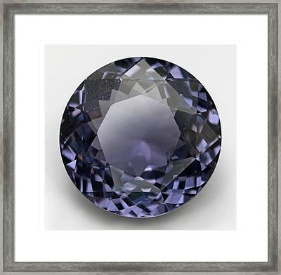 Round Cut Mauve Spinel Gemstone Framed Print