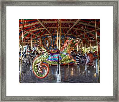 Round Goes The Dragon Framed Print