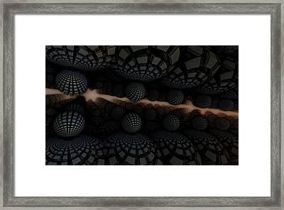 'round Harvest Time Framed Print by Ricky Jarnagin