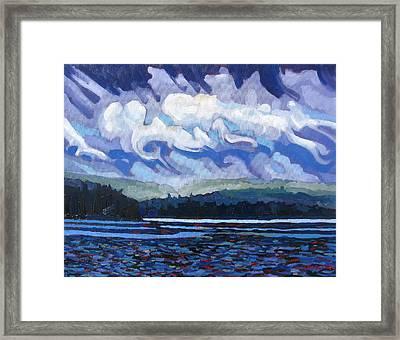 Round Lake Thunderstorm Framed Print