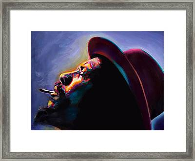 Round Midnight Thelonious Monk Framed Print by Vel Verrept