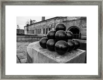 Round Shot At The Old Fort Framed Print by Andrew Pacheco