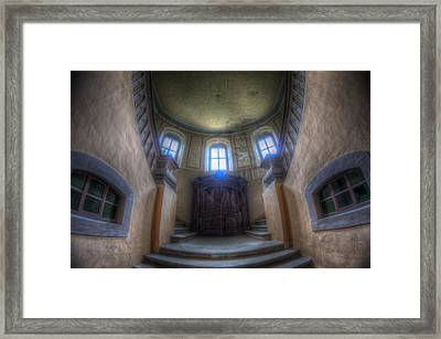 Round Stairs Framed Print by Nathan Wright
