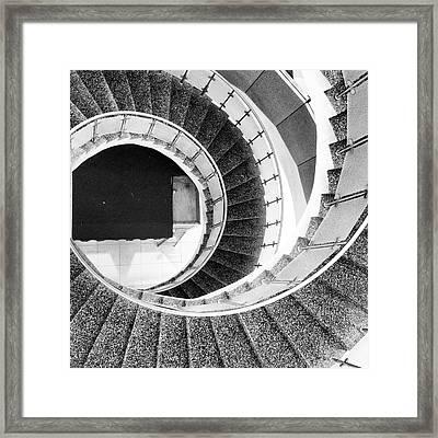 Round Stairway Framed Print