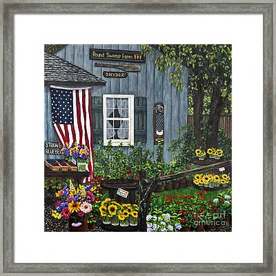 Round Swamp Farm By Alison Tave Framed Print