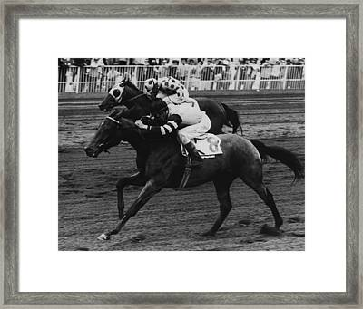 Round Table Vintage Horse Racing #2 Framed Print