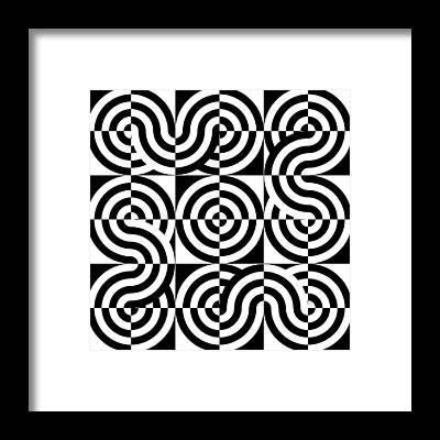 Optical Illusion Maze Framed Prints