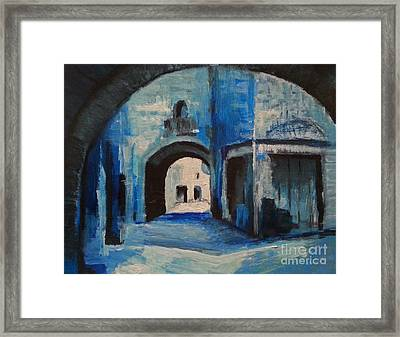 Framed Print featuring the painting Round The Corner by Maja Sokolowska