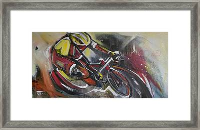 Round The Curve Framed Print