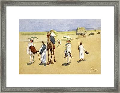 Round The Pyramids, From The Light Side Framed Print by Lance Thackeray