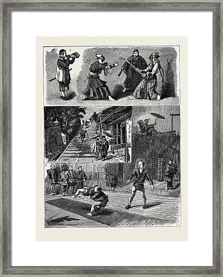 Round The World Yachting In The Ceylon Framed Print by Japanese School