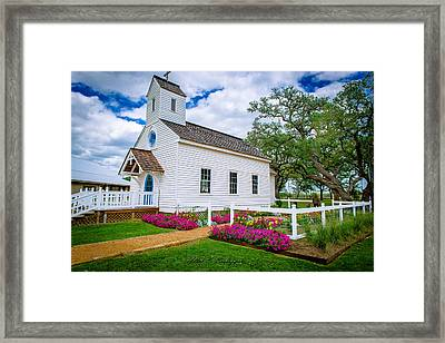 Round Top Chapel Framed Print