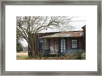 Framed Print featuring the photograph Round Top Schoolhouse by Ellen O'Reilly