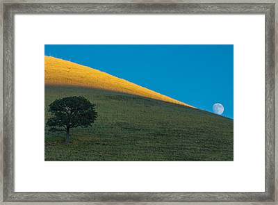 Round Valley Moonrise Framed Print by Marc Crumpler
