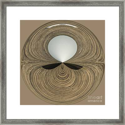 Round Wood Framed Print by Anne Gilbert