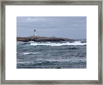 Rounding The Point Framed Print