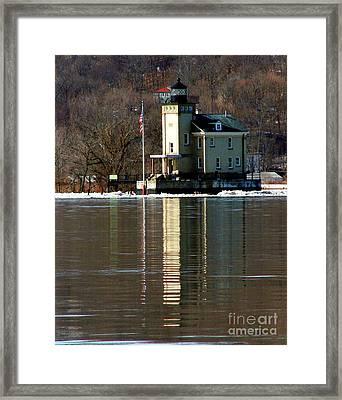 Roundout Lighthouse Framed Print