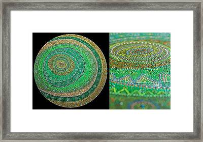 Rounds Framed Print by Grass Hopper
