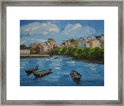 Roundstone Harbour Connemara Ireland Framed Print