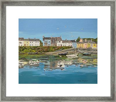 Roundstone Reflections Roundstone Connemara Framed Print by Diana Shephard