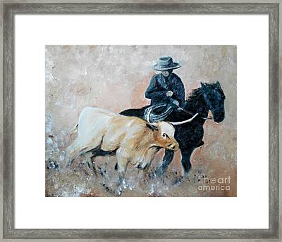 Roundup Framed Print by Isabella F Abbie Shores FRSA