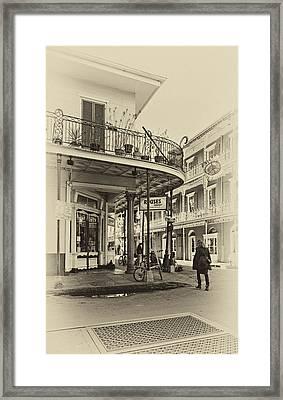 Rouses Market Sepia Framed Print by Steve Harrington
