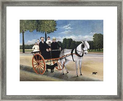Rousseau, Henri 1844-1910. Old Man Framed Print by Everett