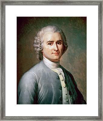 Rousseau, Jean-jacques (geneva, 1712 - Framed Print by Prisma Archivo