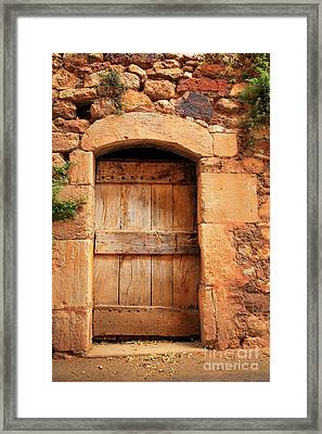 Roussillon Door Framed Print