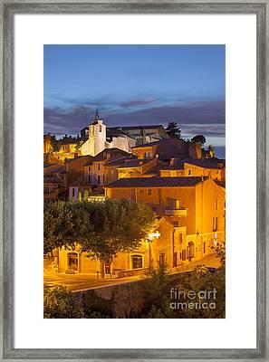 Roussillon Twilight Framed Print by Brian Jannsen