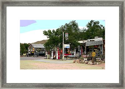 Rout 66 Hackberry Arizona Framed Print