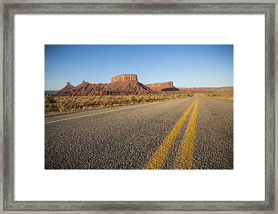 Route 128 Near Castle Valley Framed Print