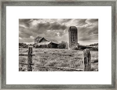 Route 213 Black And White Framed Print