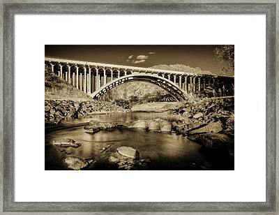 Route 40 Bridge Framed Print by Geoffrey Baker