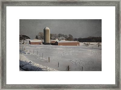 Route 45 Barn Framed Print by Joan Carroll