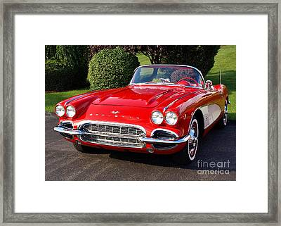 Route 66 - 1961 Corvette Framed Print