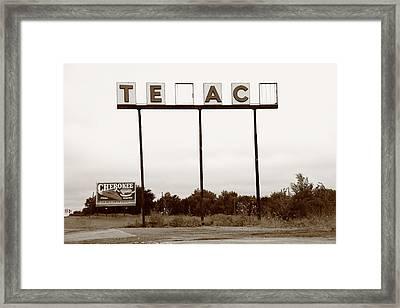 Route 66 - Abandoned Texaco Station Framed Print by Frank Romeo