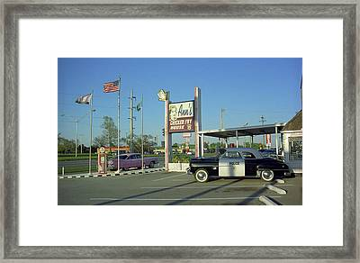 Route 66 - Anns Chicken Fry House Framed Print