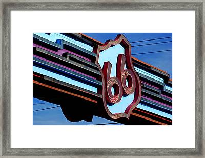 Route 66 Archway Framed Print by Daniel Woodrum