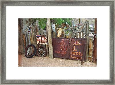 Route 66 Artifacts Framed Print by Frank Romeo