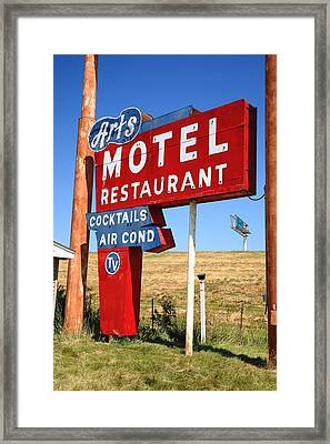 Route 66 - Art's Motel Framed Print