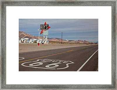 Route 66 At Amboy Framed Print by Matthew Bamberg