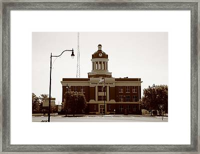 Route 66 - Beckham County Courthouse Framed Print by Frank Romeo