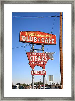 Route 66 - Cattleman's Club And Cafe Framed Print