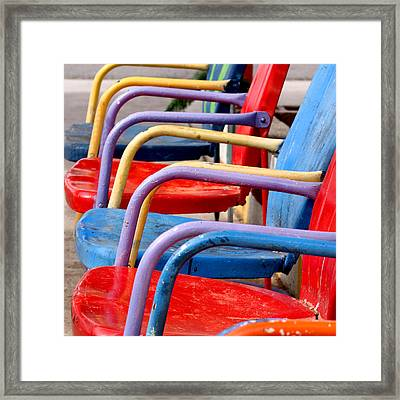 Route 66 Chairs Framed Print by Art Block Collections
