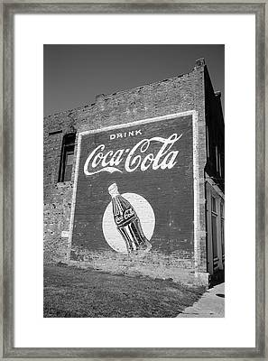 Route 66 - Coca Cola Ghost Mural Framed Print by Frank Romeo