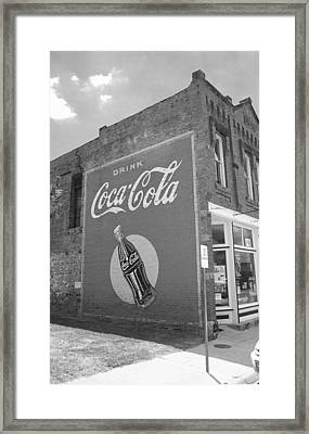 Route 66 - Coca Cola Mural Framed Print by Frank Romeo