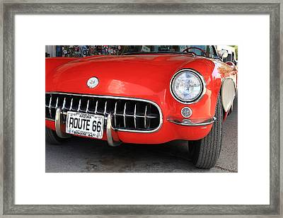 Route 66 Corvette 7 Framed Print by Frank Romeo