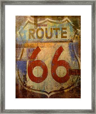 Route 66 Framed Print by Denise Mazzocco